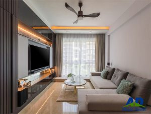 Albedo Design project hillview residences living room