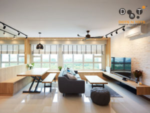 Scandustrial style living room by Dots N Tots Interior Group